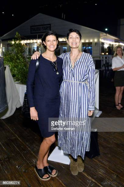 Lawren Howell and Alisa Ratner attend Jenni Kayne Home Collection Launch at Malibu Farm on October 11 2017 in Malibu California