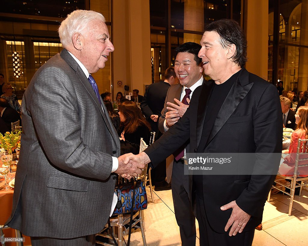 Lawrence Ackman and David Newman attend New York Philharmonic's Spring Gala, A John Williams Celebration at David Geffen Hall on May 24, 2016 in New York City.