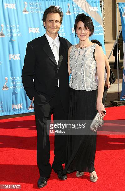 Lawrence Bender and Lesley Chilcott during 38th Annual NAACP Image Awards Arrivals at Shrine Auditorium in Los Angeles California United States