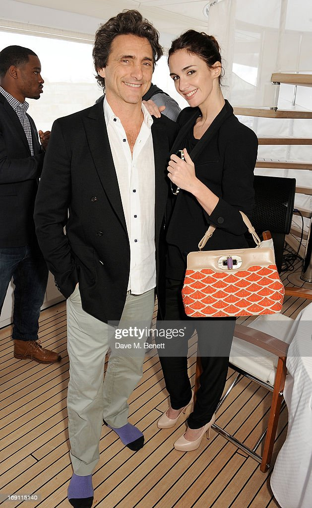 Lawrence Bender (L) and Paz Vega attend a lunch hosted by Len Blavatnik, Harvey Weinstein and Warner Music during the 66th Cannes Film Festival on board the Odessa at Old Port on May 19, 2013 in Cannes, France.