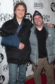 Lawrence Bender and Scott Burns during 2006 Sundance Film Festival Gen Art and MySpacecom Party at Legacy Lodge at the Park City Mountain Resort in...