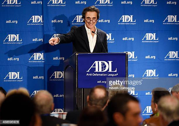 Lawrence Bender Creator of A Band Apart Productions speaks during a salute to Abraham Foxman by the AntiDefamation League 2014 Annual Meeting at The...