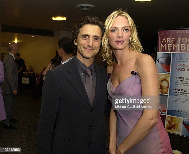 Lawrence Bender producer and Uma Thurman during 'Kill Bill Vol 2' World Premiere Red Carpet at Arclight Cinerama Dome in Hollywood California United...