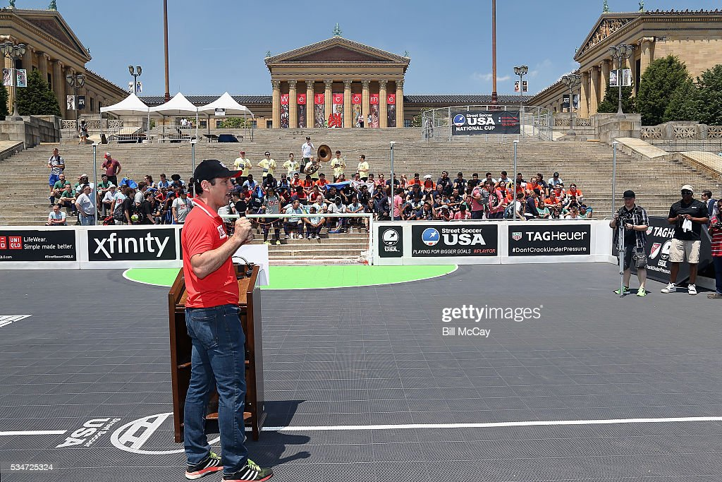 Lawrence Cann, Founder and CEO of Street Soccer USA, attends the Inaugural Street Soccer USA Philadelphia Cup at the Philadelphia Art Museum May 27, 2016 in Philadelphia, Pennsylvania.