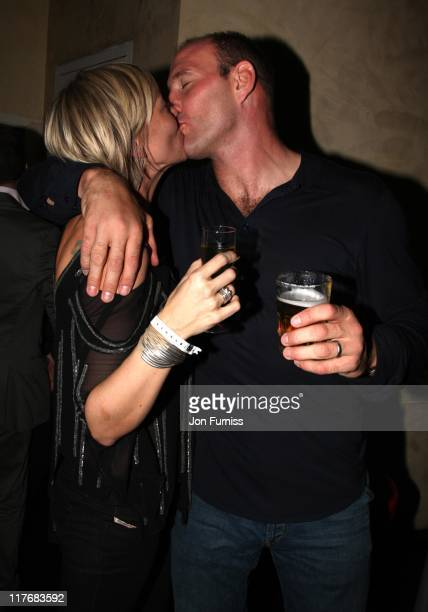 Lawrence Dallaglio and wife Alice Dallaglio pose at the O2 England World Cup party at L'Etoile on October 20 2007 in Paris France