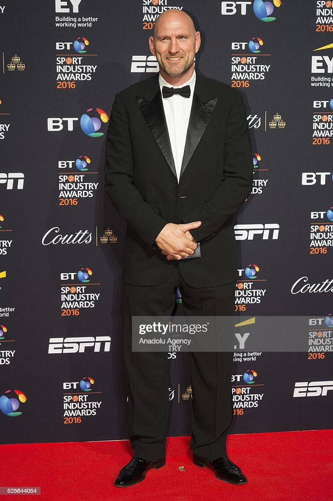 Lawrence Dallaglio attends the BT Sport Industry Awards 2016 in London, United Kingdom on April 28, 2016.