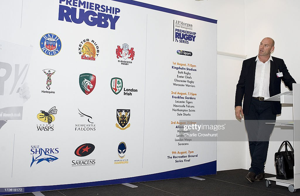 Lawrence Dallaglio looks at the fixtures during the 2013-14 Aviva Premiership Rugby Season Fixtures Announcement at The BT Tower on July 4, 2013 in London, England.