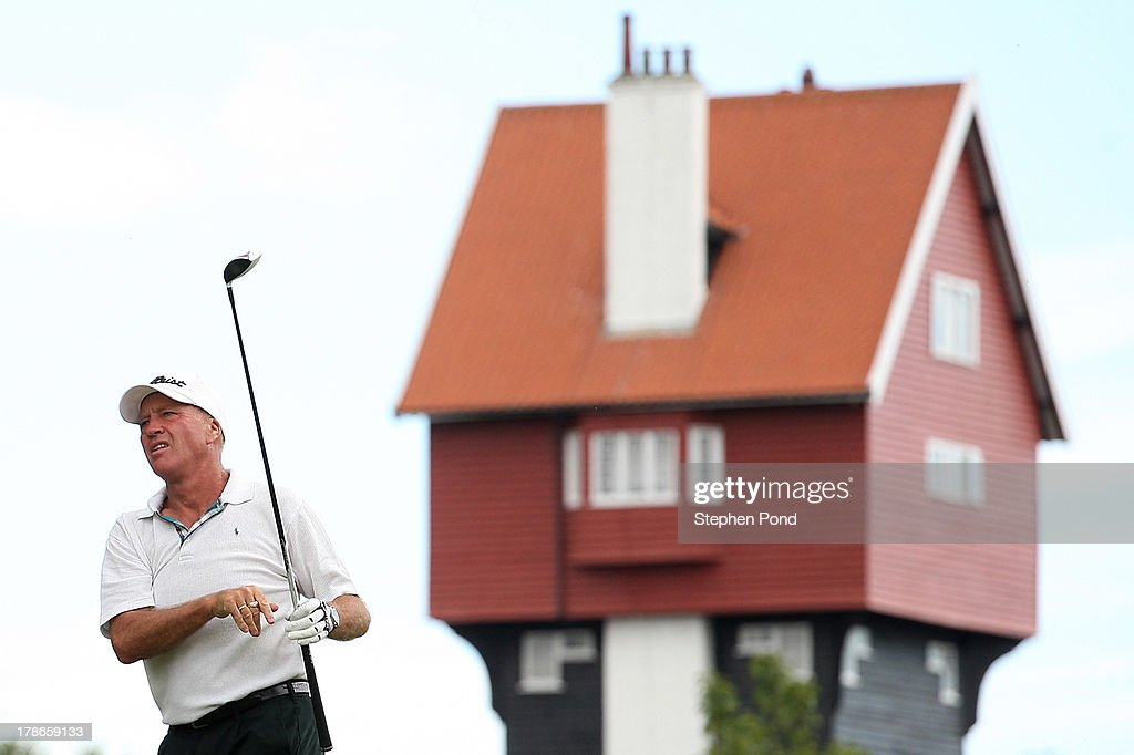 Lawrence Farmer during the PGA Super 60's Tournament at Thorpeness Hotel and Golf Club on August 30, 2013 in Thorpeness, England.