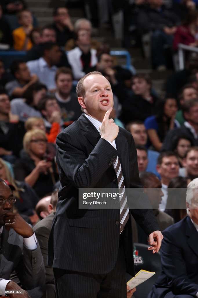 <a gi-track='captionPersonalityLinkClicked' href=/galleries/search?phrase=Lawrence+Frank&family=editorial&specificpeople=208918 ng-click='$event.stopPropagation()'>Lawrence Frank</a> of the Detroit Pistons calls plays from the bench during the game against the Milwaukee Bucks on January 11, 2013 at the BMO Harris Bradley Center in Milwaukee, Wisconsin.