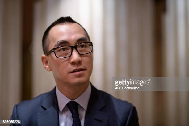Lawrence Ho chairman and chief executive officer of Melco Resorts and Entertainment Ltd speaks during an interview with AFP Hong Kong on September 27...