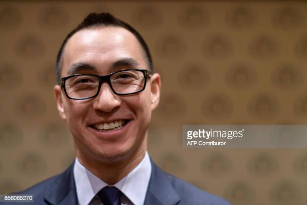 Lawrence Ho chairman and chief executive officer of Melco Resorts and Entertainment Ltd poses during an interview with AFP Hong Kong on September 27...