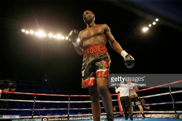 Lawrence Okolie v Lukas Rusiewicz at the SSE Hydro