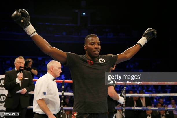 Lawrence Okolie wins v Lukas Rusiewicz at the SSE Hydro Glasgow