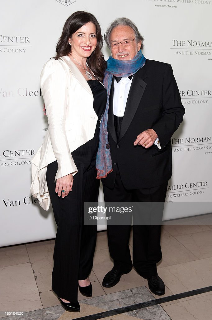 <a gi-track='captionPersonalityLinkClicked' href=/galleries/search?phrase=Lawrence+Schiller&family=editorial&specificpeople=1515219 ng-click='$event.stopPropagation()'>Lawrence Schiller</a> (R) and wife Nina Wiener Schiller attend the 2013 Norman Mailer Center gala at the New York Public Library on October 17, 2013 in New York City.