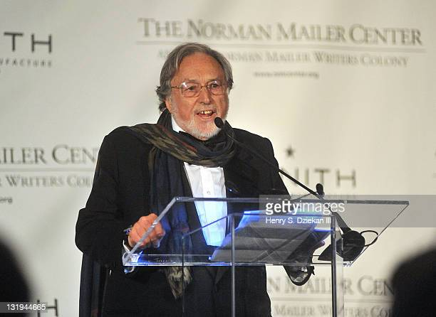 Lawrence Schiller President and CoFounder The Norman Mailer Center speaks at the 3rd Annual Norman Mailer Center Gala at the Mandarin Oriental Hotel...
