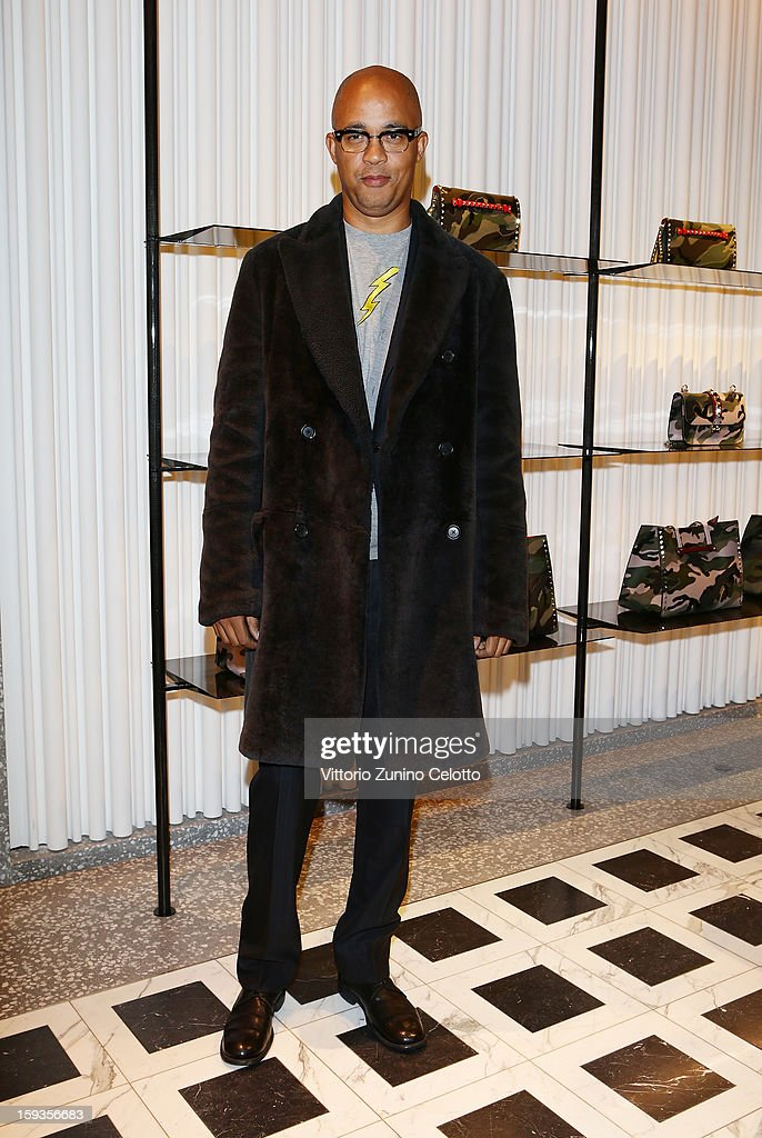 Lawrence Steele attends Valentino Cocktail Party as part of Milan Fashion Week Menswear Autumn/Winter 2013 on January 12, 2013 in Milan, Italy.
