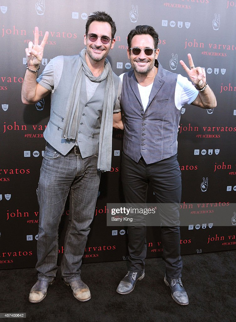 Lawrence Zarian and Gregory Zarian attend the International Peace Day celebration at John Varvatos on September 21, 2014 in Los Angeles, California.
