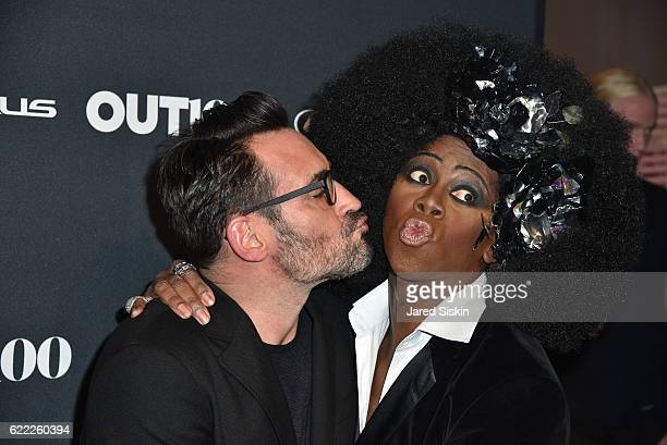 Lawrence Zarian and J Alexander attend The OUT100 2016 Gala at Metropolitan West on November 10 2016 in New York City