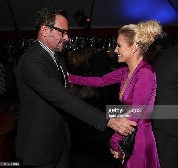 Lawrence Zarian and Nicky Whelan attend the Hallmark Channel And Hallmark Movies And Mysteries Winter 2017 TCA Press Tour at The Tournament House on...