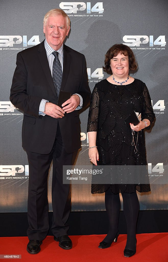 Lawrie McMenemy and Susan Boyle attends the BBC Sports Personality of the Year awards at The Hydro on December 14, 2014 in Glasgow, Scotland.