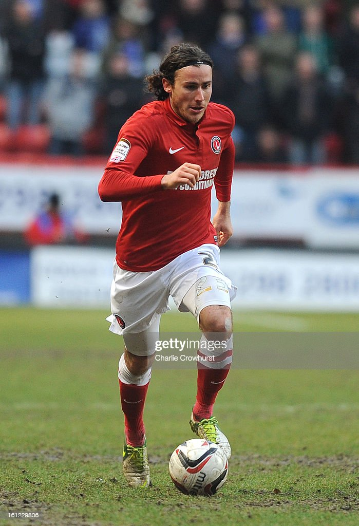 Lawrie Wilson of Charlton attacks during the npower Championship match between Charlton Athletic and Birmingham City at The Valley on February 09, 2013 in London England.