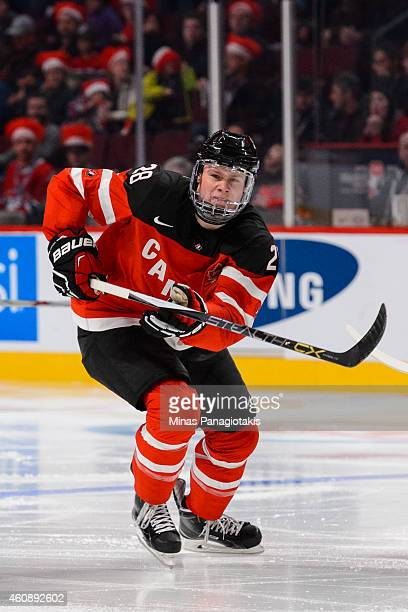 Lawson Crouse of Team Canada skates during the 2015 IIHF World Junior Hockey Championship game against Team Slovakia at the Bell Centre on December...