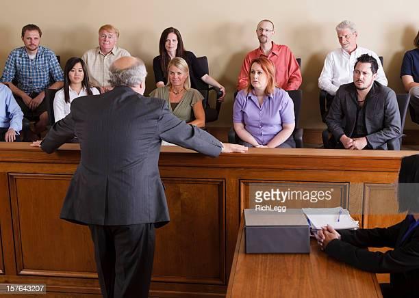 O advogado júri de endereçamento