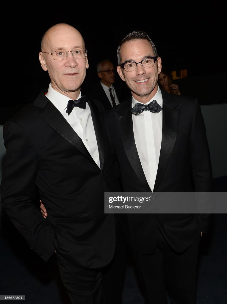 Lawyer Alan Hergott (L) and Director of Government Relations at L.A. Gay & Lesbian Center Curt Shepard attend the LACMA 2013 Art + Film Gala honoring Martin Scorsese and David Hockney presented by Gucci at LACMA on November 2, 2013 in Los Angeles, California.