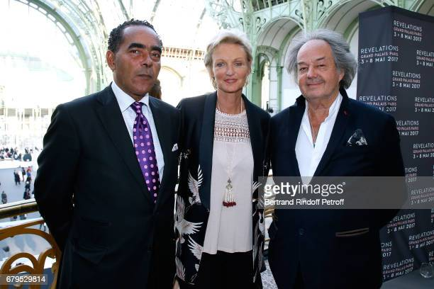 Lawyer Alexandre Ursulet his wife Princess Anne de Bourbon Siciles and Gonzague SaintBris attend the 'Revelations' Fair at Balcon d'Honneur du Grand...