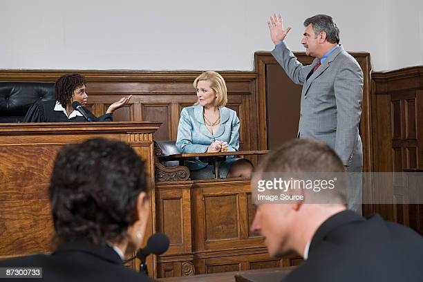 A lawyer and a judge arguing