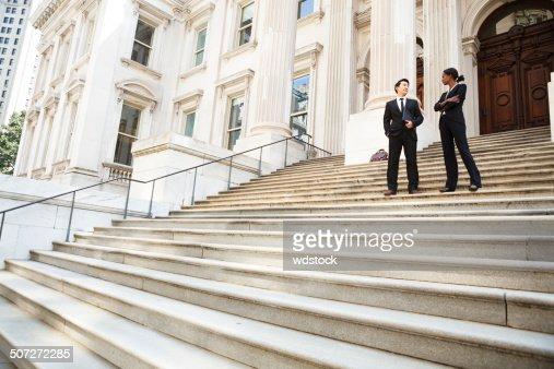 Anwalt und Mandant oder Business Personen
