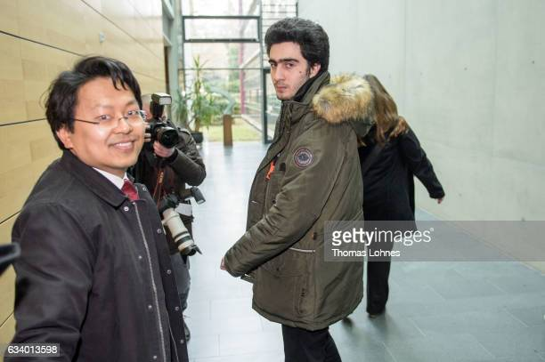 Lawyer ChanJo Jun who is representing Syrian refugee Anas Modamani arrive for the court session over Modamani's lawsuit against Facebook at the...
