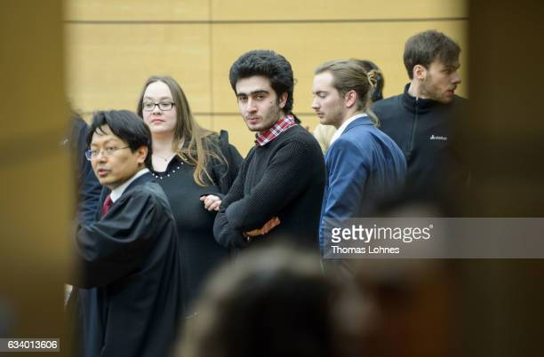 Lawyer ChanJo Jun who is representing Syrian refugee Anas Modamani wait for the beginning of the court session over Modamani's lawsuit against...