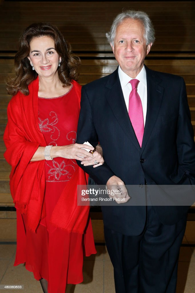 Lawyer Cyrille Niedzielski and his wife attend the dinner party of the Societe Des Amis Du Musee D'Orsay (The Friends of Orsay Museum Society) at Musee d'Orsay on March 24, 2014 in Paris, France.