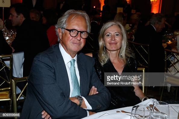 Lawyer Cyrille Niedzielski and Renate Graf attend the Charity Dinner to Benefit 'Claude Pompidou Foundation' following the 'Cezanne et Moi' movie...