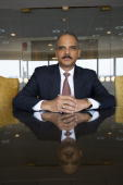 Lawyer Eric Holder poses at a portrait session in 2008