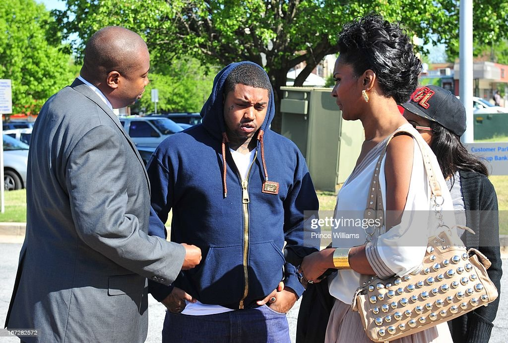 Lawyer, Erica Dixon and Mama Dee Lil Scrappy Turns Himself In at Atlanta Police Department on April 23, 2013 in Atlanta, Georgia.
