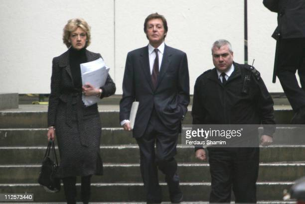Lawyer Fiona Shackleton and Sir Paul McCartney arrives at The Royal Court Of Justice on February 14 2008 in London England