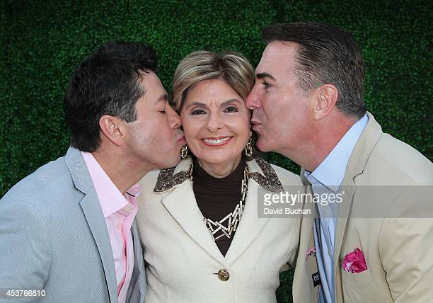 Lawyer Gloria Allred officiates the the marriage of gay couple J Charles McFadden and Daniel McFadden at their home in West Hollywood on August 17...