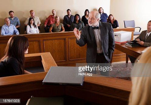弁護士の法廷