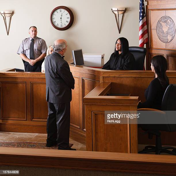 Lawyer in a Courtroom