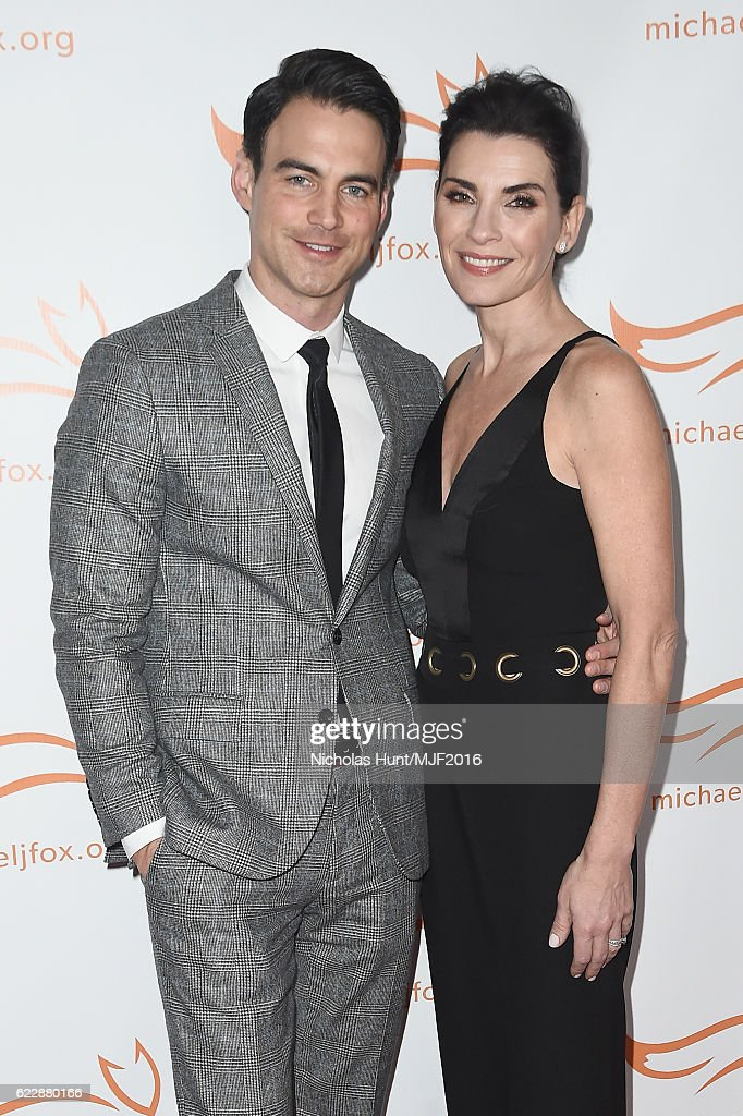 Lawyer Keith Lieberthal (L) and actress Julianna Margulies attend Michael J. Fox Foundation's 'A Funny Thing Happened On The Way To Cure Parkinson's' gala at The Waldorf=Astoria on November 12, 2016 in New York City.