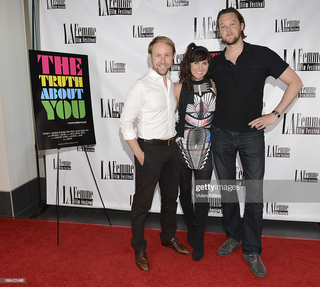 Lawyer Paul Danielson, agent Jeff Jones and director Andrea Fellers attend 'The Truth About You' - Los Angeles Premiere at Regal 14 at LA Live Downtown on October 19, 2013 in Los Angeles, California.