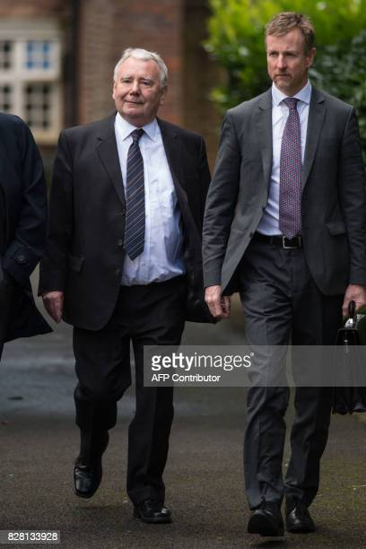 Lawyer Peter Metcalf arrives for his first court appearance in connection with the 1989 Hillsborough football stadium disaster at Warrington...