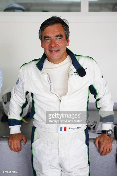 Lawyer politician and former French prime ministerFrancois Fillon a motor sport enthusiast is photographed for Paris Match on August 24 2013 in Le...