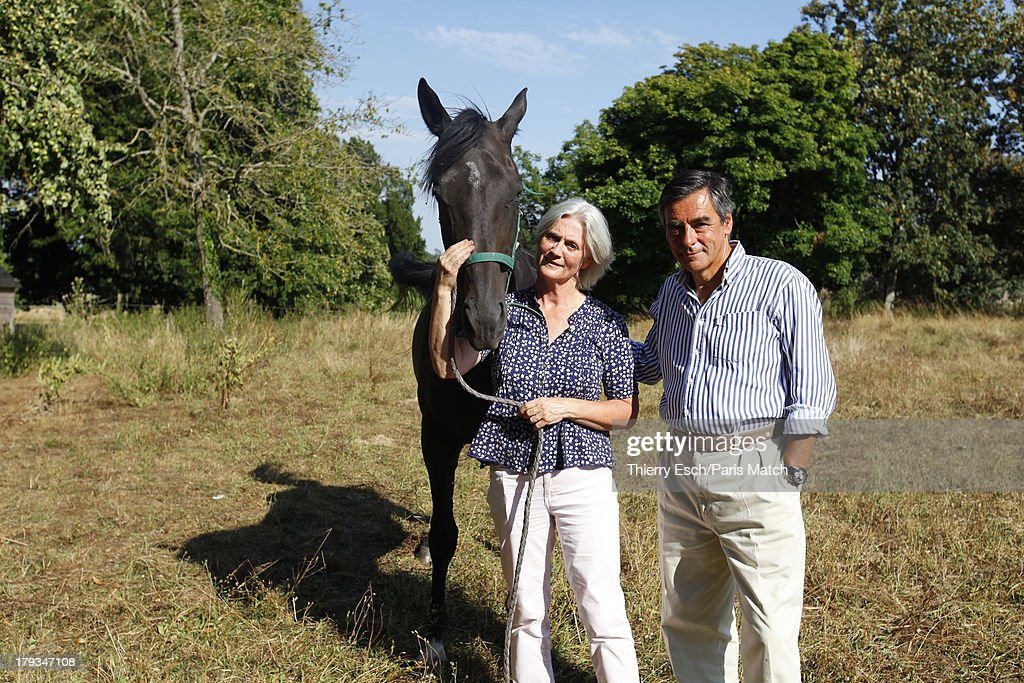 SOLESMES, SARTHE, FRANCE, FRANCE - AUGUST 23: (M0243719) Lawyer, politician and former French prime minister,<a gi-track='captionPersonalityLinkClicked' href=/galleries/search?phrase=Francois+Fillon&family=editorial&specificpeople=835870 ng-click='$event.stopPropagation()'>Francois Fillon</a> is photographed for Paris Match during his holiday wiht his family at his summer residence Le Manoir de Beaucéon August 24, 2013 in Solesmes, Sarthe, France.