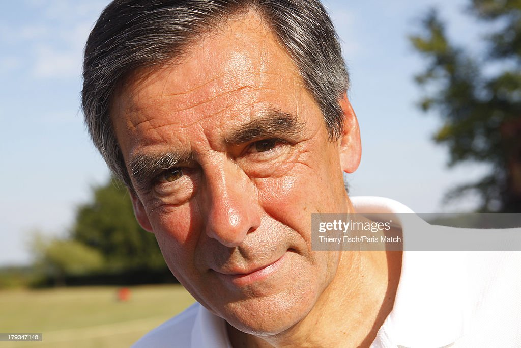 SOLESMES, SARTHE, FRANCE, FRANCE - AUGUST 23: (M0243848) Lawyer, politician and former French prime minister,<a gi-track='captionPersonalityLinkClicked' href=/galleries/search?phrase=Francois+Fillon&family=editorial&specificpeople=835870 ng-click='$event.stopPropagation()'>Francois Fillon</a> is photographed for Paris Match during his holiday wiht his family at his summer residence Le Manoir de Beaucéon August 24, 2013 in Solesmes, Sarthe, France.