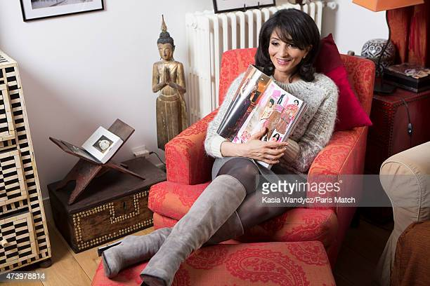 Lawyer politician and partner of Stephane Charbonnier Jeannette Bougrab is photographed for Paris Match on May 5 2015 in Paris France