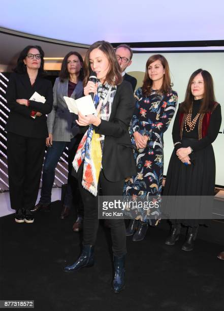 Lawyer Sophie Obadia Singer/actress Viktor Lazlo 'Prix du Style 2017' Awarded writer Kaouther Adimi for her book 'Nos Richesses' from Le Seuil...