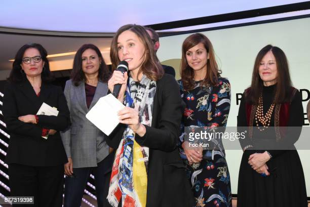 Lawyer Sophie Obadia Singer/actress Viktor Lazlo 'Prix du Style 2017' Awarded writer Kaouther Adimi for her book 'Nos Richesses' from Le Seuil Livre...